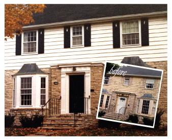 Before and after exterior by Graham Nunn Painting