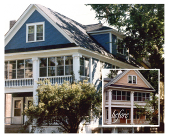 Before and after house by Graham Nunn Painting